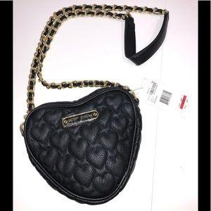 NWT Betsy Johnson black handbag